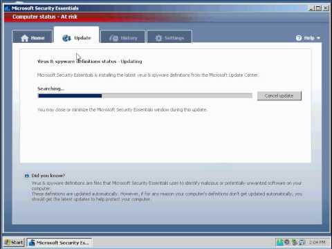 Microsoft Security Essentials part 1