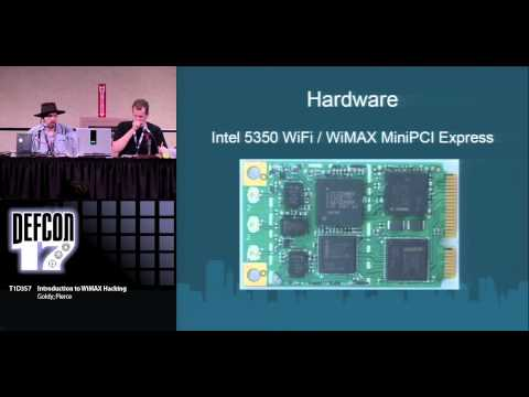 DEF CON 17 - Goldy and Pierce - Intro to WiMAX Hacking