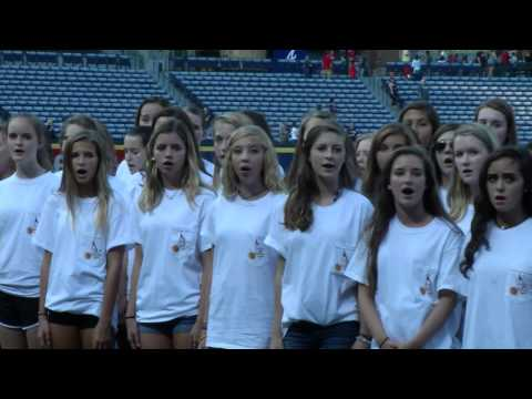 Lassiter Chorus National Anthem at Braves Game 2015