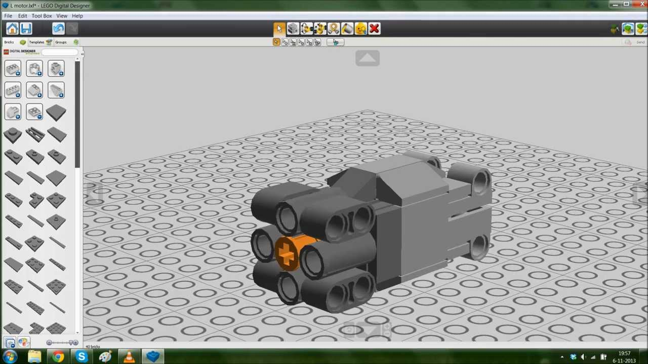 Lego digital designer l motor youtube for A and l motors