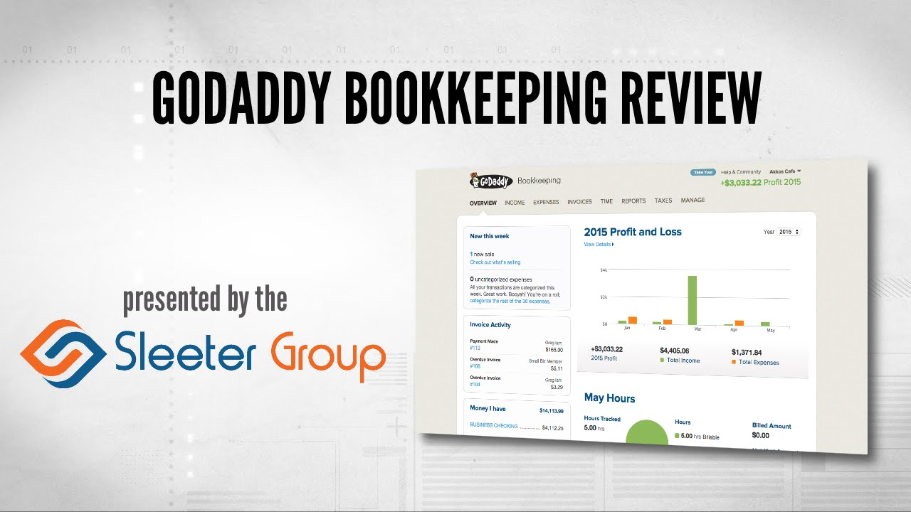 GoDaddy Bookkeeping Review / Tutorial - YouTube