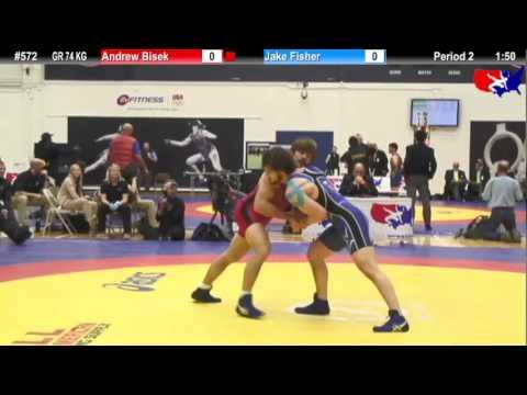 Schultz GR 74 KG 1st Place: Andrew Bisek (MN Storm) vs. Jake Fisher (NYAC)
