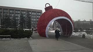 Рекордно велика ялинкова іграшка України встановлена в Кривому Розі