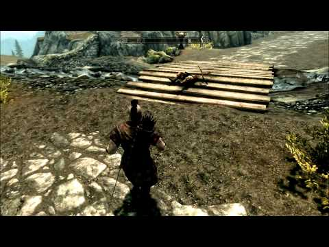 how to run and jump in skyrim
