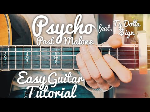 Psycho Post Malone Guitar Lesson for Beginners // Psycho Guitar // Lesson #421