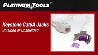 How to Terminate Keystone Cat6A Jacks