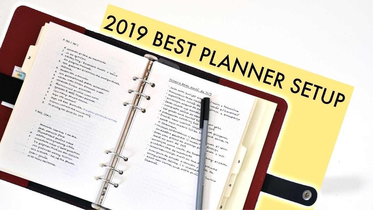 The BEST 2019 PLANNER & Bullet Journal SETUP: The All-in-One System