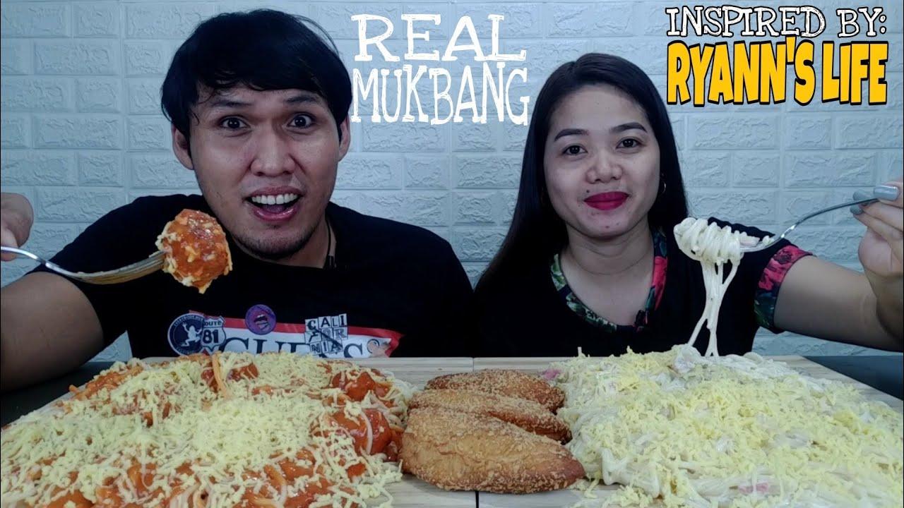 SPAGHETTI MEATBALLS x CARBONARA x EMPANADA / INSPIRED BY @RyAnn's Life / FILIPINO FOOD MUKBANG
