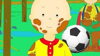 caillou walks around the block