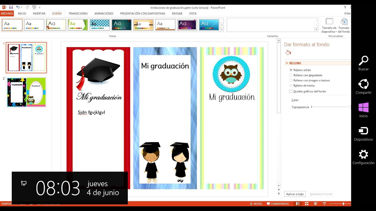 explicac u00ed u00f3n de como editar invitaciones en power point 1