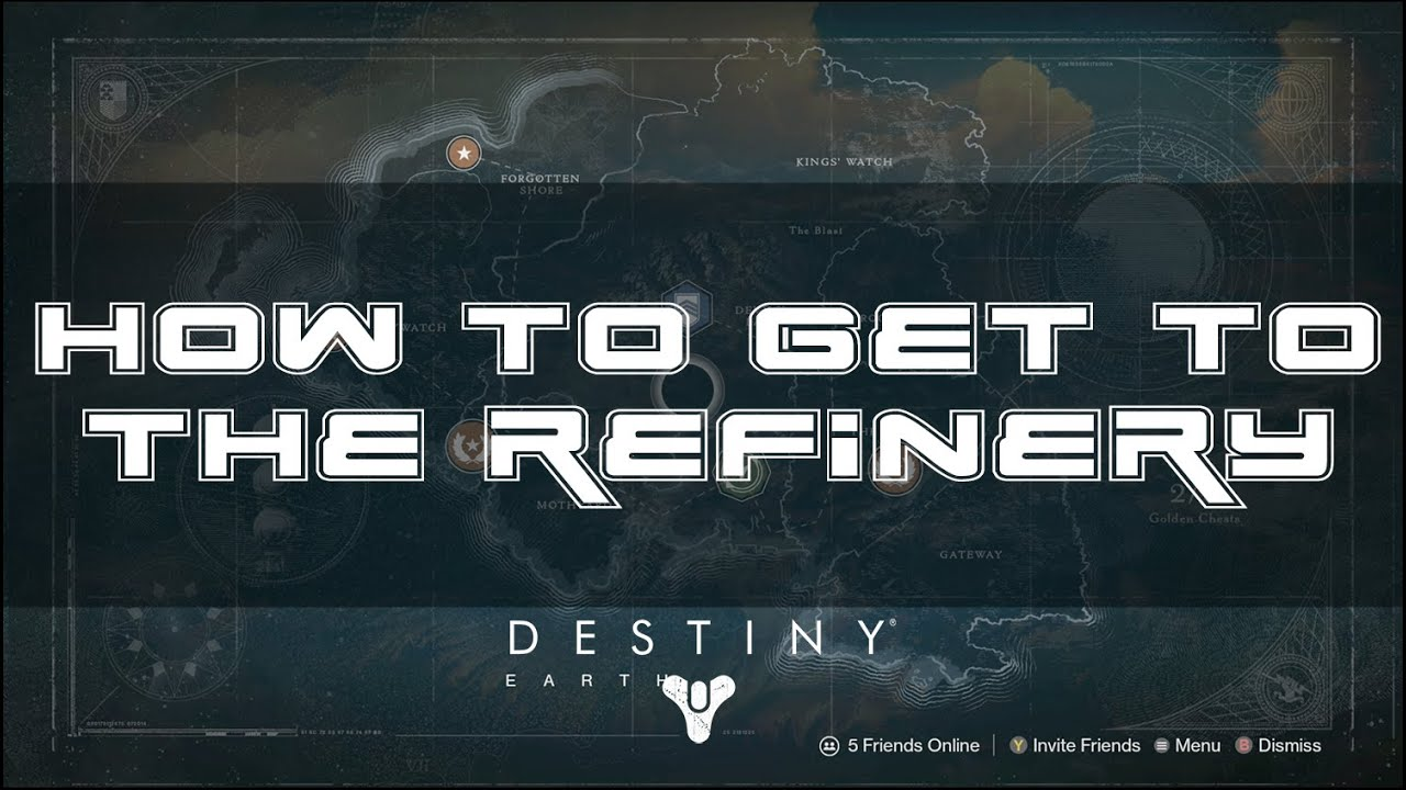 Destiny How to get to the Refinery Easiest Way  YouTube