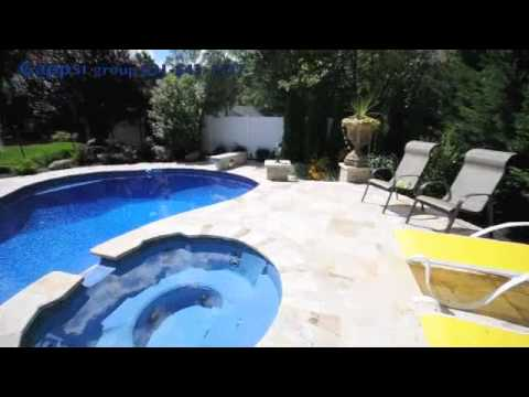 French Pattern Travertine Swimming Pool Patio Spill Over