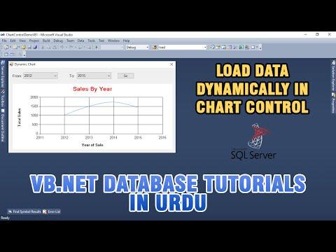 VB.NET Chart Control Tutorial In Urdu - Load Data Dynamically In Chart Control