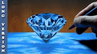 Diamond, 3D Trick Art on Paper , Long Version