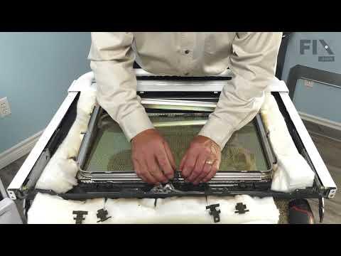GE Range Repair – How to Replace the Oven Door Glass Kit