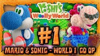 Yoshi's Wooly World Co Op: Mario & Sonic! - World 1 & Giveaway thumbnail