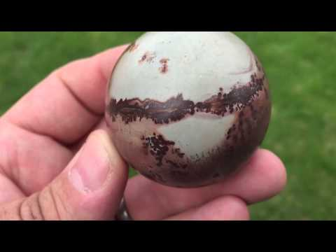 Chinese painting stone sphere