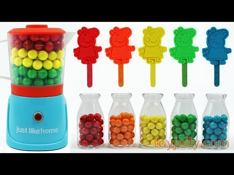 Play Doh Peppa Pig Popsicle Ice Cream Learn Colors Blender Mixer Toys Baby Finger Song Kids Rhymes