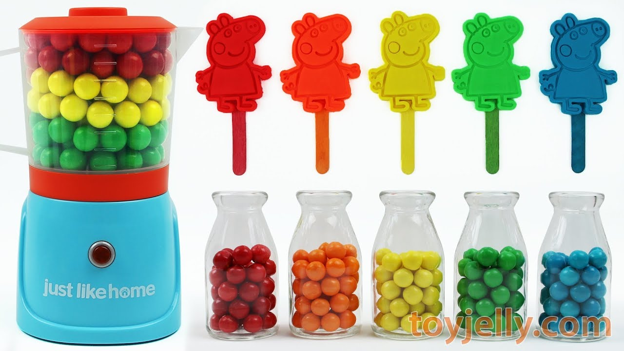 Play Doh Peppa Pig Popsicle Ice Cream Learn Colors Blender