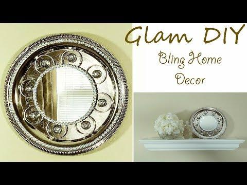 Dollar Tree Diy Glam Bling Mirror Wall Decor