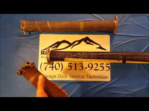 how to adjust ez set torsion spring system