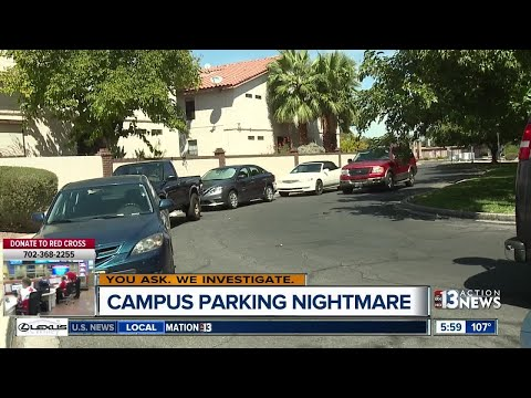 UNLV students parking in front of homes