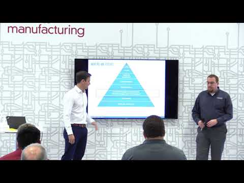 Eckhart presenting on 3D printing challenges and opportunities at RAPID 2018