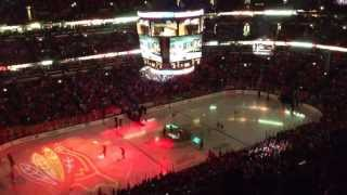 Chicago Blackhawks INTRO against Calgary Flames at United Center, Chicago IL 26th Apr 2013