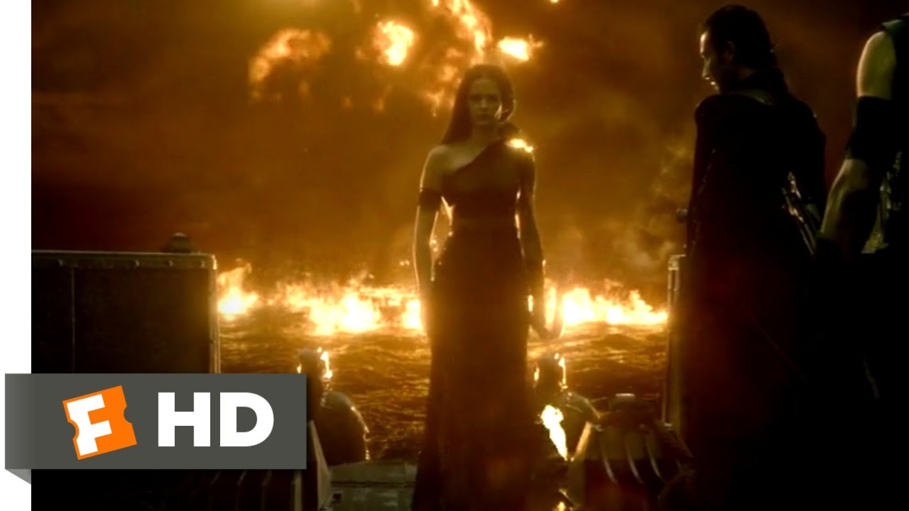 Download 300: Rise of an Empire (2014) - Ocean of Fire Scene (7/10) | Movieclips