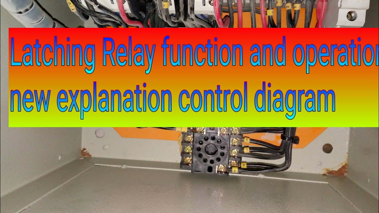 small resolution of latching relay tutorial latching relay wiring latching relay diagram