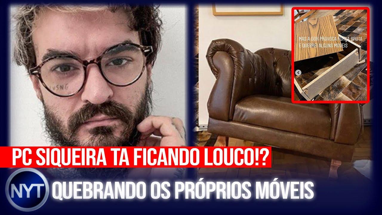 PC Siqueira quebra móveis de seu PRÓPRIO apartamento e exibe na internet