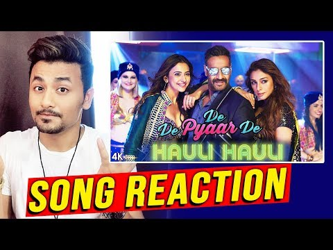 HAULI HAULI SONG REACTION | REVIEW | De De Pyaar De | Ajay Devgn, Tabu, Rakul Preet Singh
