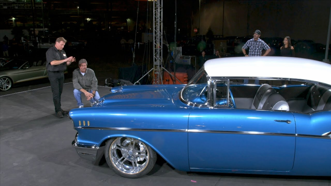 57 Bel Air Reveal Overhaulin Youtube 1957 Chevy Impala Lowrider