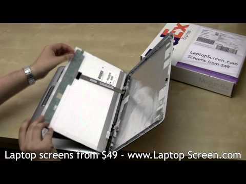 Laptop Screen Replacement, How To Replace Laptop Lcd [Toshiba Satellite L455D]