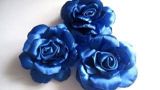 Роза из атласной ленты  Как сделать розу из атласной ленты МК DIY