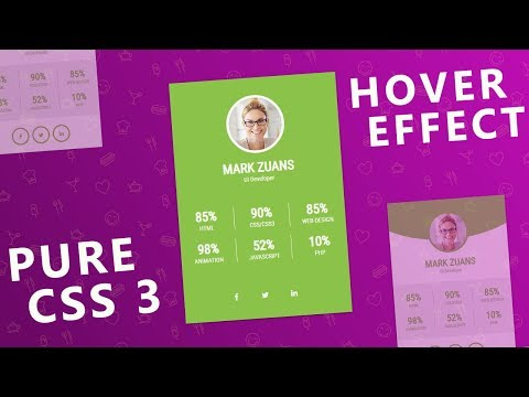 Profile Card Hover Effect Using Html And CSS3 - Learn Today