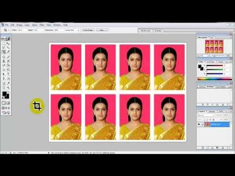 create Passport size Photo in adobe Photoshop 7.0