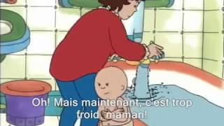 Caillou Takes His Bath with French Subtitles