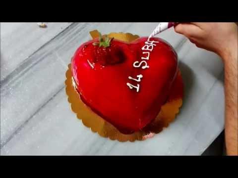 14 şubat sevgililer günü kalpl çilekli pasta