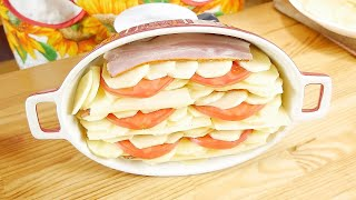 Запеченная картошка с сыром и грудинкои
