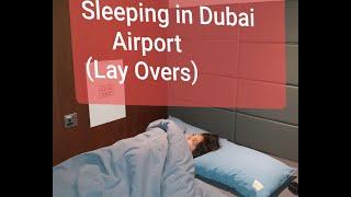 Where To Sleep In Dubai Airport Vlog/ Ou Dormir à L'aeroport De Dubai? Sleep N Fly Lounge