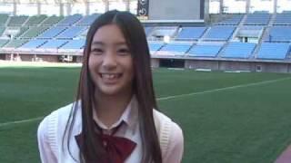 2010Jリーグ特命PR部女子マネの足立梨花さんがユアテックスタジアム仙台...