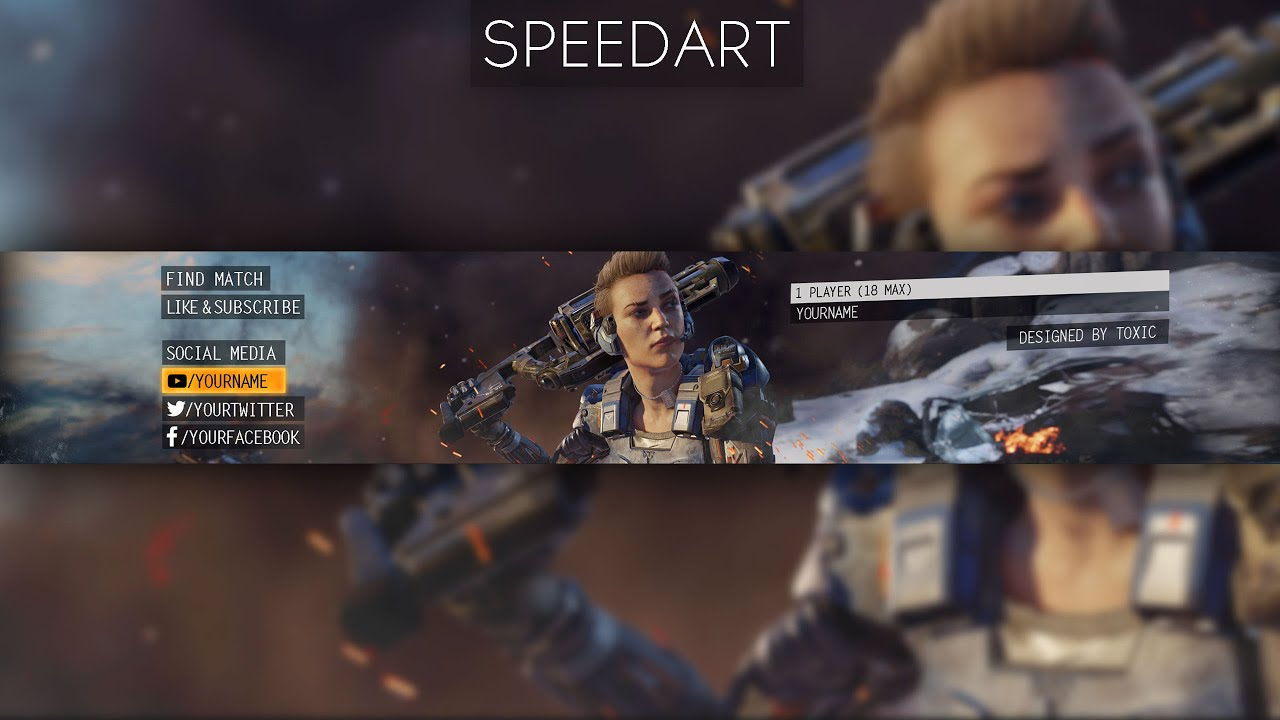 Free Bo3 Banner Template Toxic Youtube