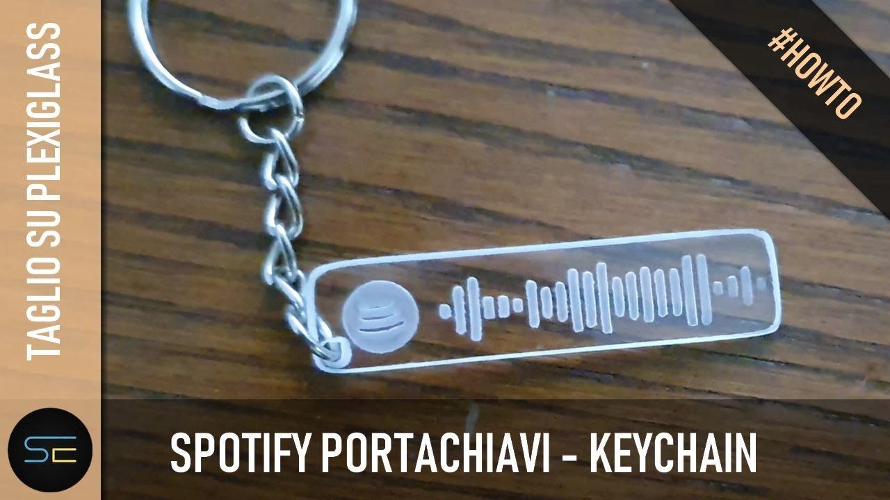 CNC 3018 - Spotify portachiavi keychain plexiglass trasparente