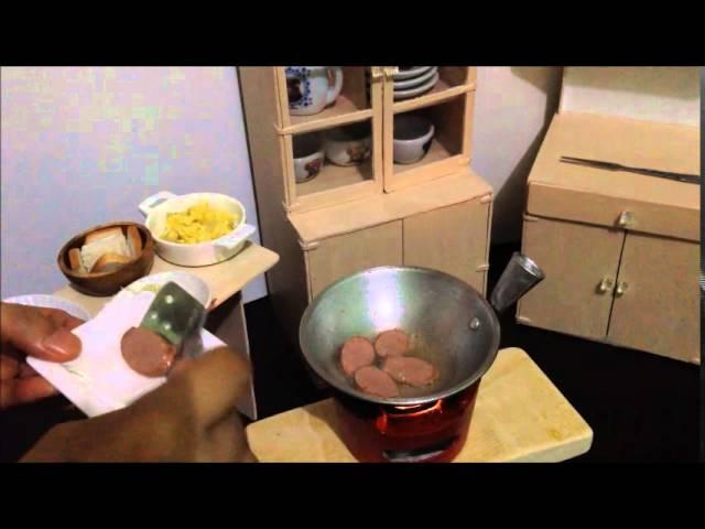 Miniature Cooking Ep 4 Tiny Scrambled Egg Sausage Garlic Bread Mini Food Kids Toys