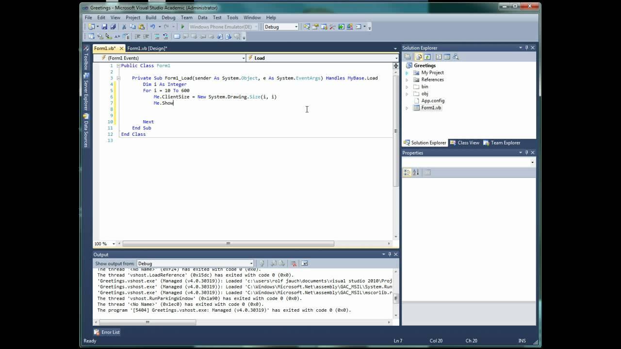 Frame In Visual Basic 2010 | Nakanak org