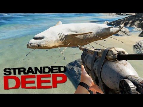 PRIMER TIBURÓN MUERTO CON MI NUEVA ARMA!! Stranded Deep #12