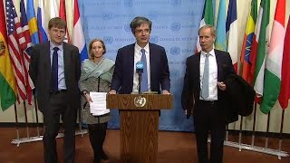 United Kingdom, United States, Sweden & France on Syria Arria meeting - Media Stakeout (19 Mar 2018)