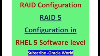 RAID 5 Configuration at Software level in linux-RHEL5