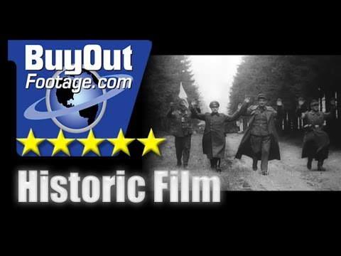 Historic Stock Footage WWII - Allied Central Europe Campaign - Mopping Up In Germany